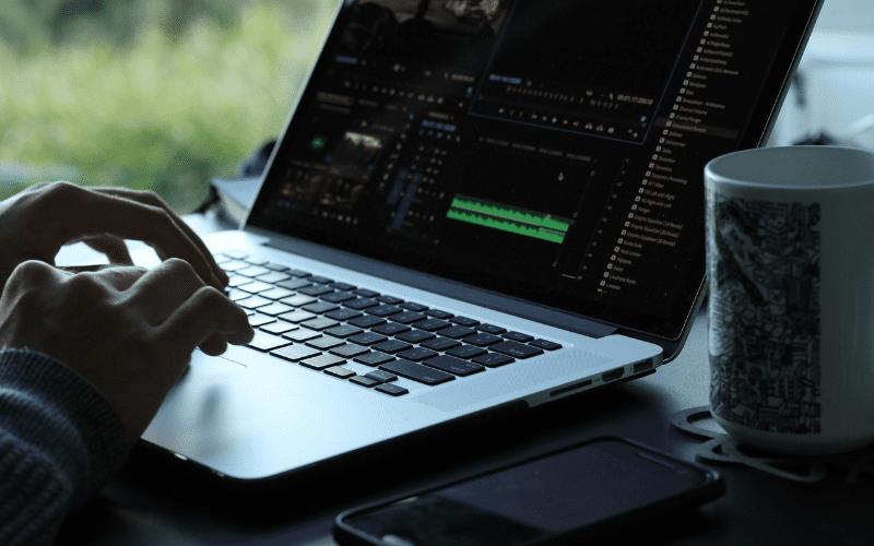 editing on computer