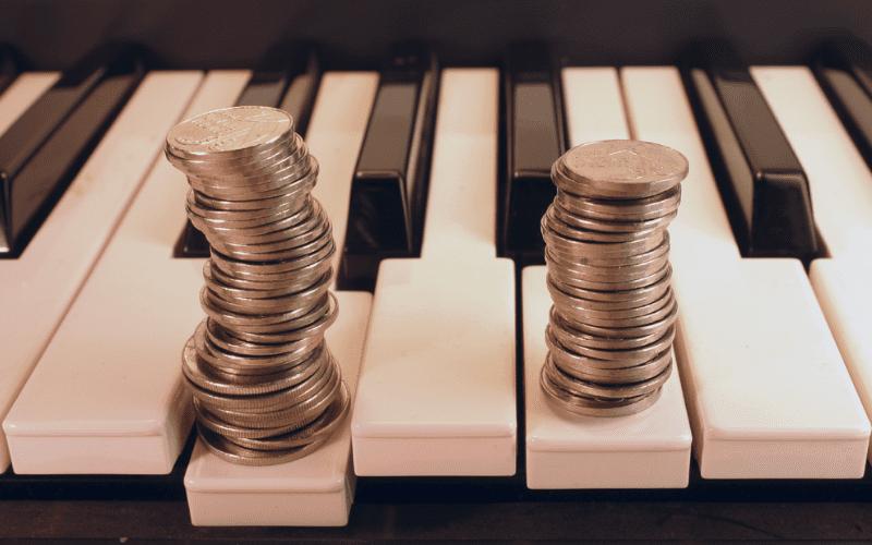 money on piano