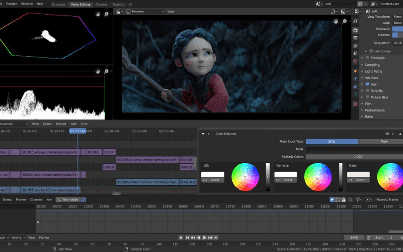 video editing 3d animation movies