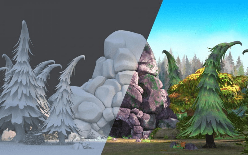 texturing 3d animation movies