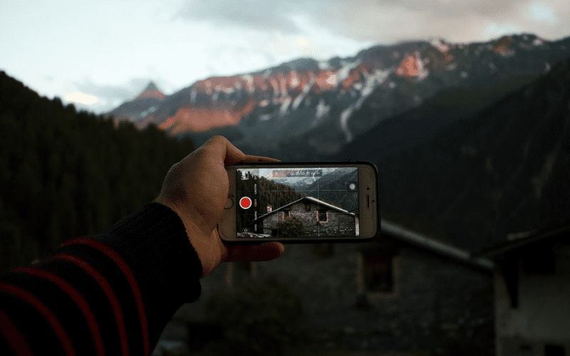 iphone video shot mountains