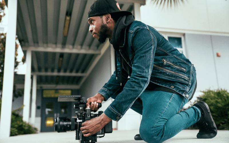 man using screen direction