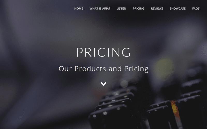 Aria Mastering pricing