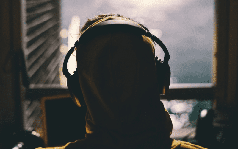 person wearing headphones
