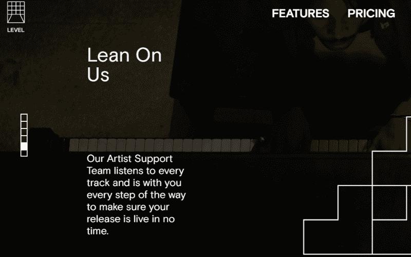 level music artist support