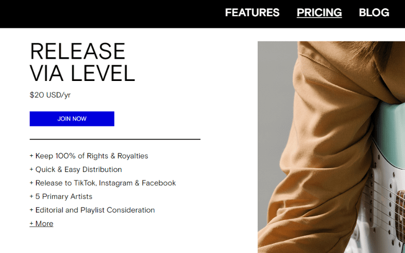 level music pricing