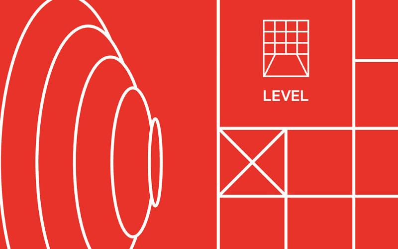 level music graphic design
