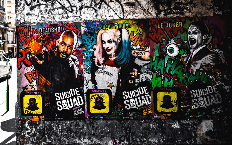 suicide squad street posters film promotion