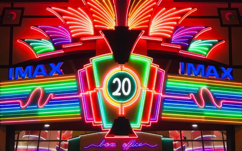 colourful neon cinema social media marketing tips