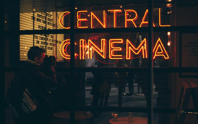 cinema neon sign social media marketing tips
