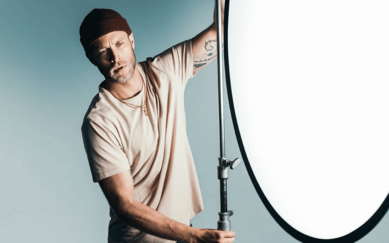film gaffer with lighting equipment