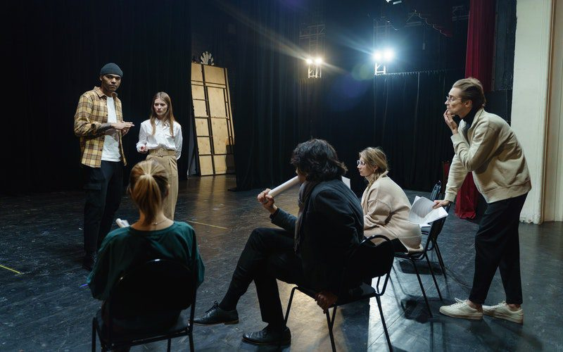 casting and rehearsing